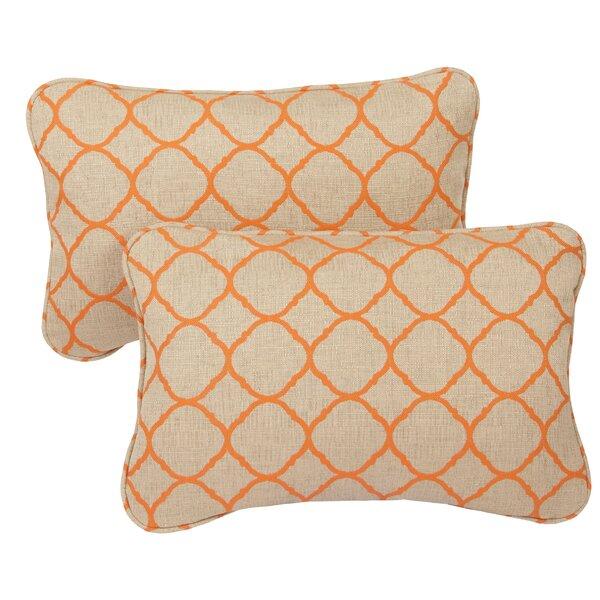 Topps Outdoor Sunbrella Lumbar Pillow (Set of 2) by Bay Isle Home