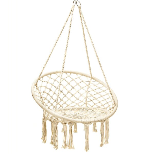 Bernao Cotton Rope Handwoven Chair Hammock by Bungalow Rose
