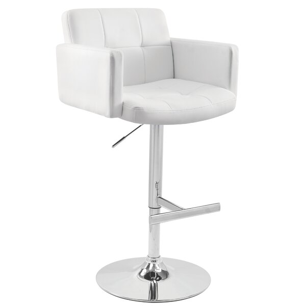 Limpley Stoke Adjustable Height Swivel Bar Stool by Wade Logan