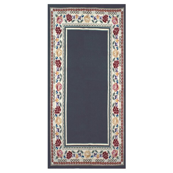 Bucks County Navy/Ivory Border Area Rug by American Home Rug Co.