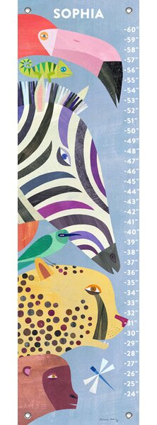African Animals Personalized Growth Chart by Oopsy Daisy