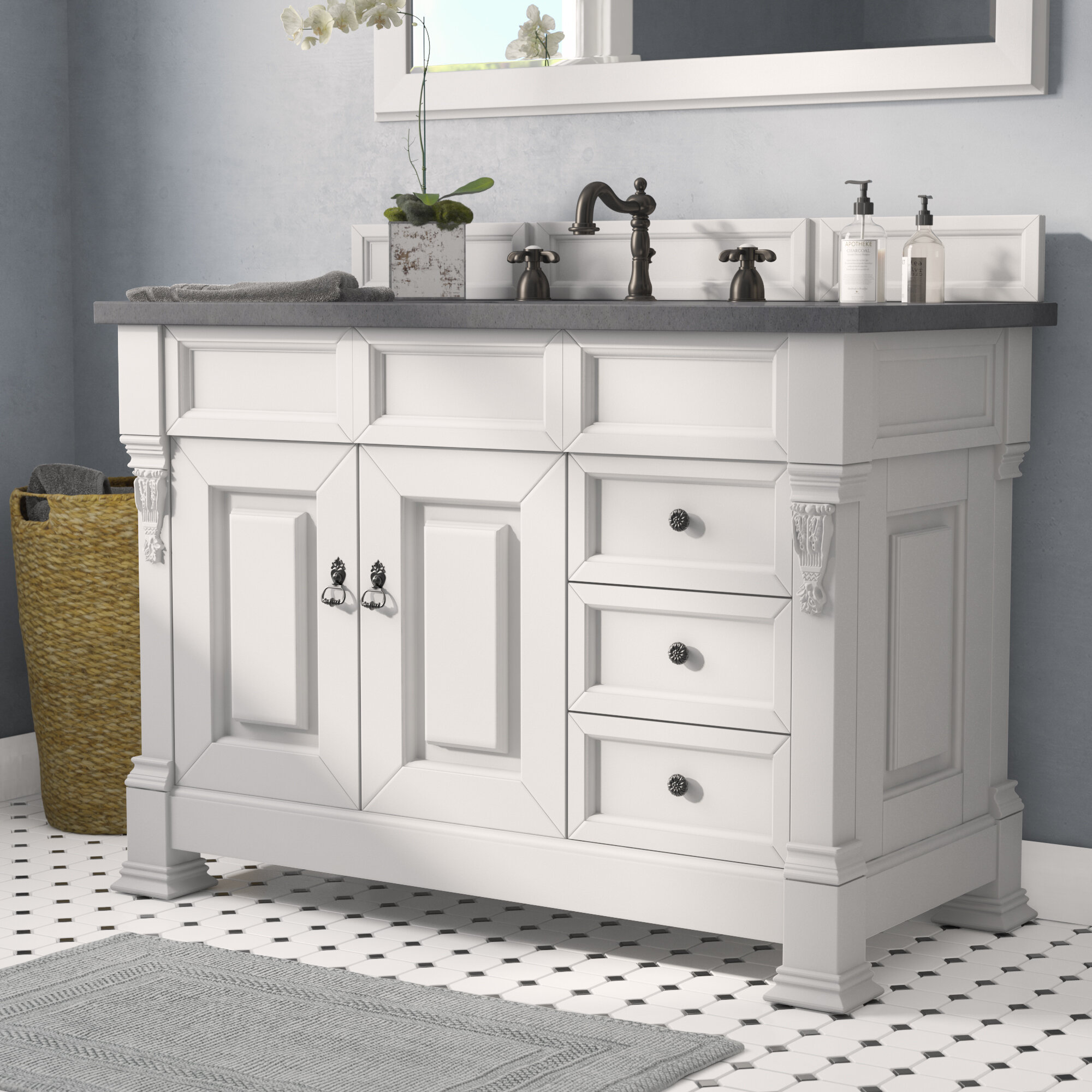 "Vivanco 7"" Single Bathroom Vanity Set"