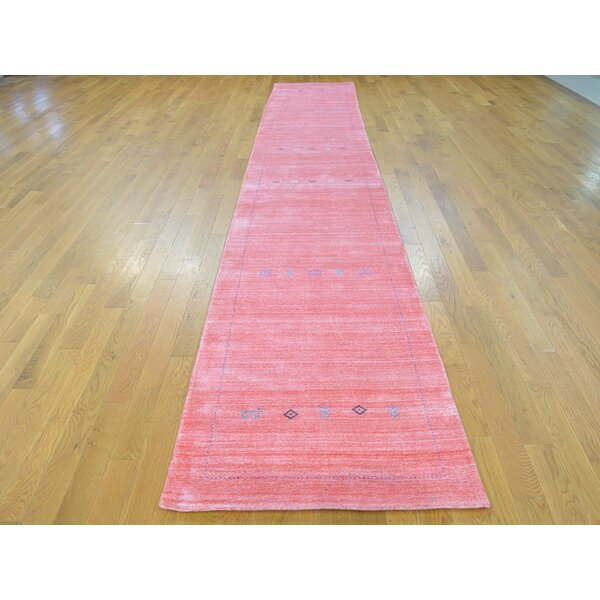 One-of-a-Kind Becker Hand-Knotted Pink Wool/Silk Area Rug by Isabelline