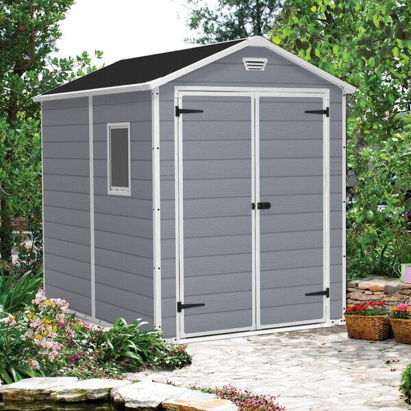 Manor 6 ft. W x 7.4 ft. Plastic Storage Shed by Ke