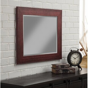 Gracie Oaks Gillett Rustic Wall Mirror