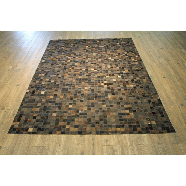 One-of-a-Kind Oconner Hand-Woven Dark Brown/Gray Area Rug by Loon Peak