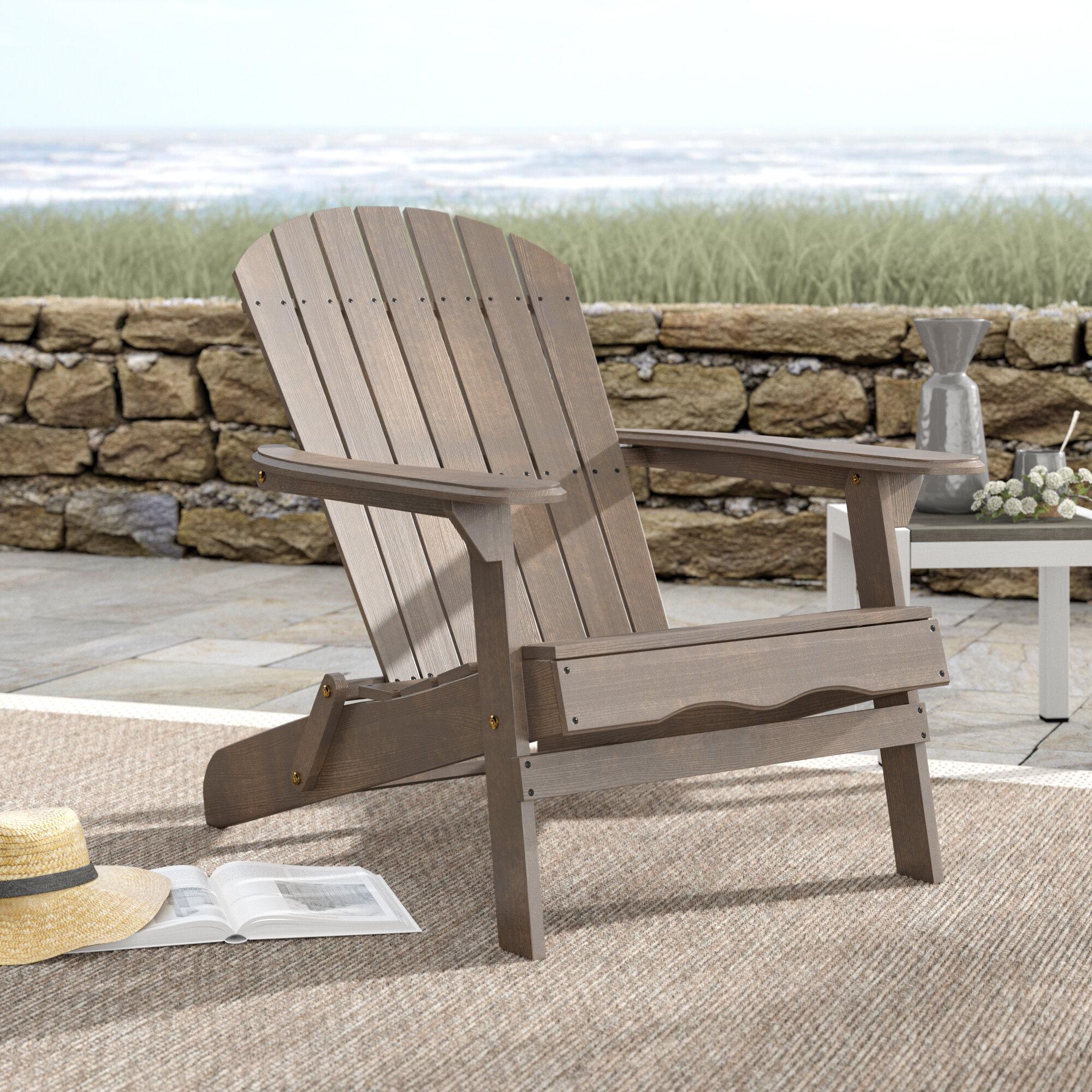 Ordinaire Birch Lane™ Ridgeline Solid Wood Folding Adirondack Chair U0026 Reviews | Birch  Lane