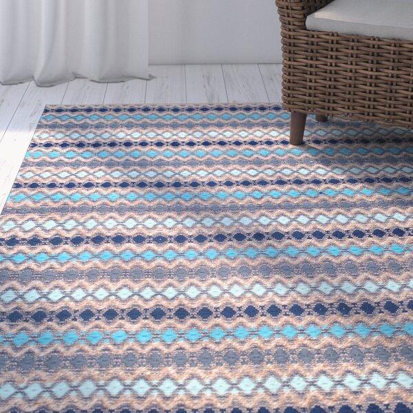 Antigua Handmade Blue Area Rug by Beachcrest Home