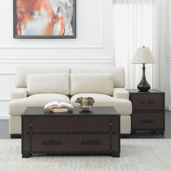 Elijah 2 Piece Coffee Table Set by 17 Stories