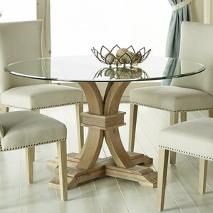 glass kitchen dining tables you ll love wayfair - Glass Round Dining Table