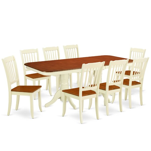 Lafon 9 Piece Extendable Solid Wood Dining Set by August Grove