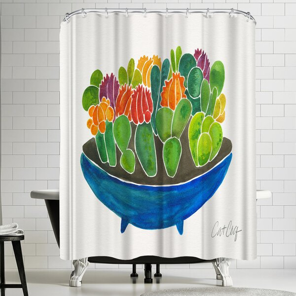 Succulents Shower Curtain by East Urban Home
