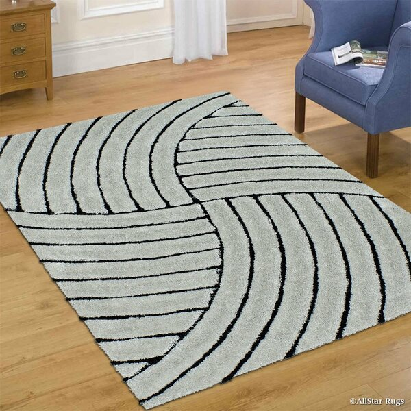 Hand-Tufted Gray Area Rug by AllStar Rugs