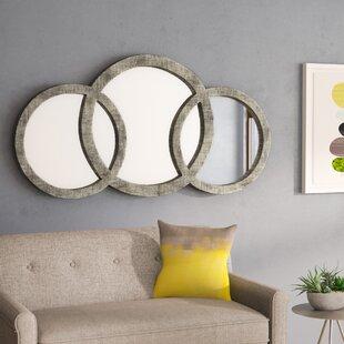 Wade Logan Cromartie Antique Silver Leaf 3 Ring Mirror