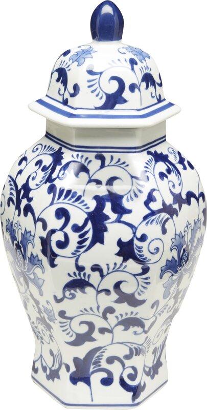 Foral Ginger Decorative Jar
