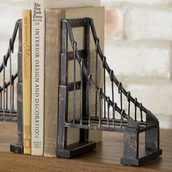 Suspension Book End (Set of 2) by Laurel Foundry Modern Farmhouse