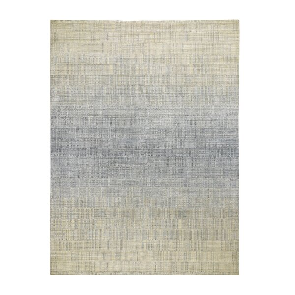 One-of-a-Kind Nettles Hand-Knotted Gray 8'10 x 12'1 Area Rug
