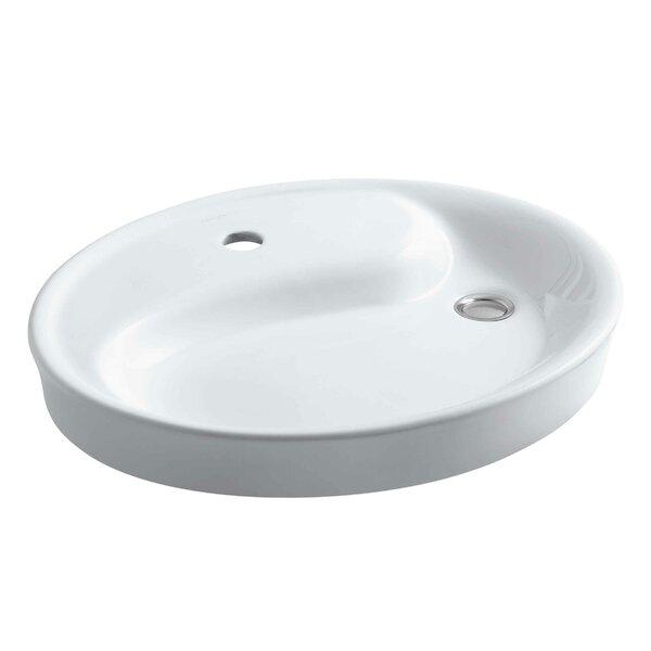 Yin Yang Bathroom Sink with Overflow by Kohler
