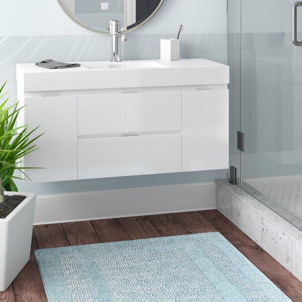 Tenafly 48 Single Wall Mount Modern Bathroom Vanity Set by Wade Logan
