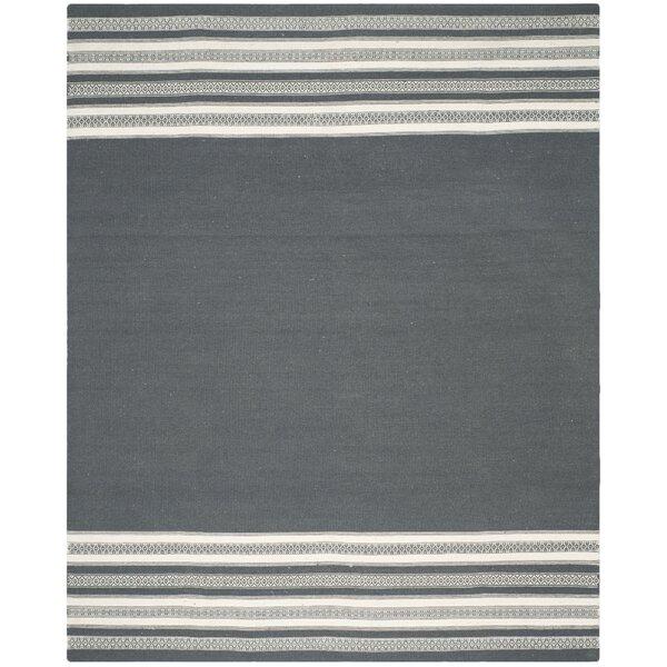 Dhurries Hand-Woven Dark Gray Area Rug by Safavieh