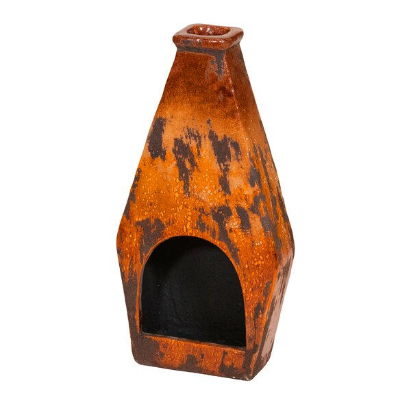 Clay Wood Burning Chiminea by REZ Furniture