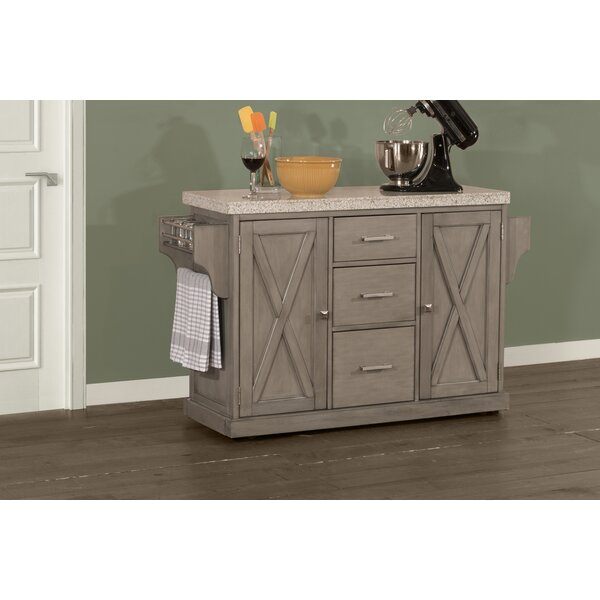 Jax Kitchen Island with Granite Top by Gracie Oaks