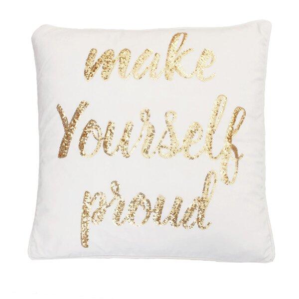 Foerer Sequin Velvet Throw Pillow by Mercer41