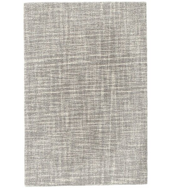 Crosshatch Micro Hand Hooked Wool Gray Area Rug By Dash And Albert Rugs.