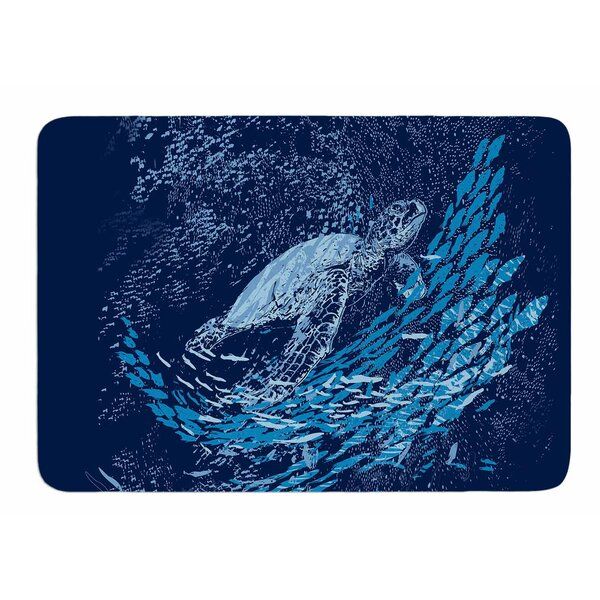 The Turtle Way by Frederic Levy-Hadida Bath Mat by East Urban Home