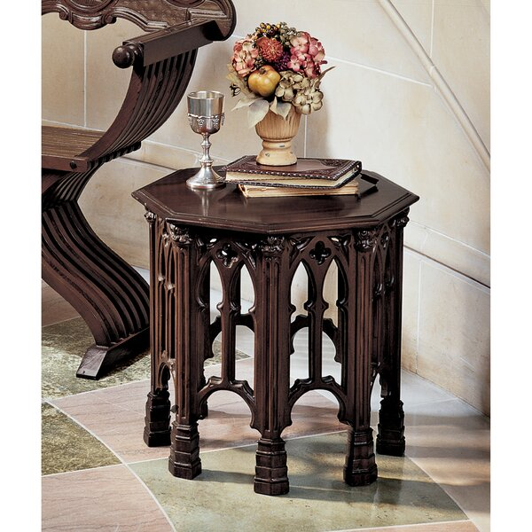 Gothic Revival Octagonal End Table (Set of 2) by Design Toscano