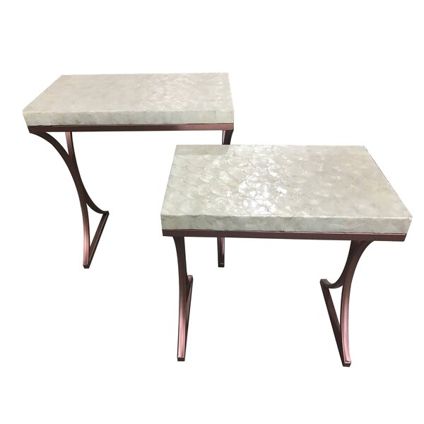Kyra 2 Piece Metal Base End Table by Ivy Bronx