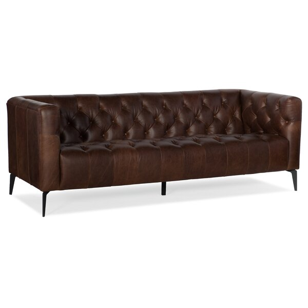 Nicolla Leather Sofa by Hooker Furniture Hooker Furniture