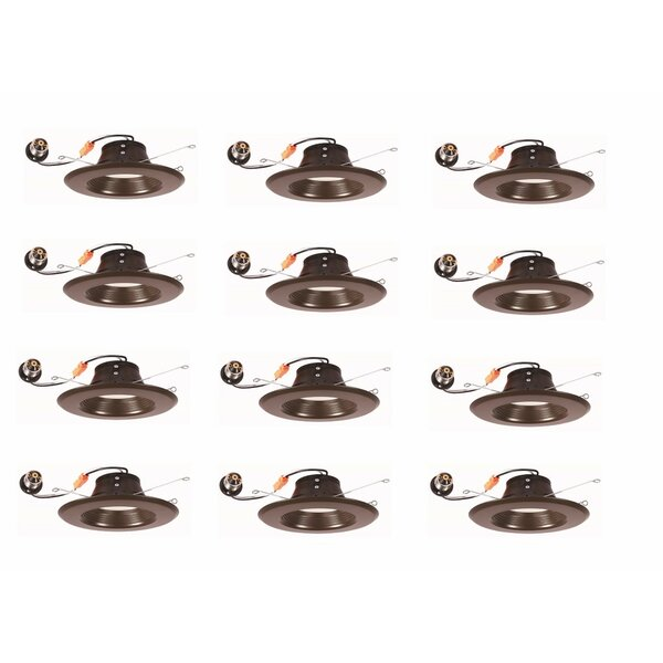 4 Reflector Recessed Trim (Set of 12) by Elegant Lighting