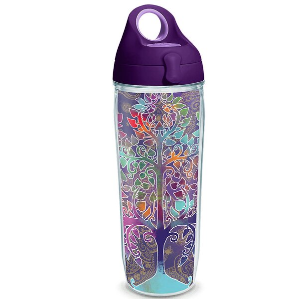 On Trend Tree of Life 24 oz. Plastic Water Bottle by Tervis Tumbler