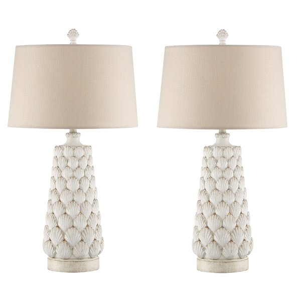 Harry Seashell 33 Table Lamp (Set of 2) by Beachcrest Home