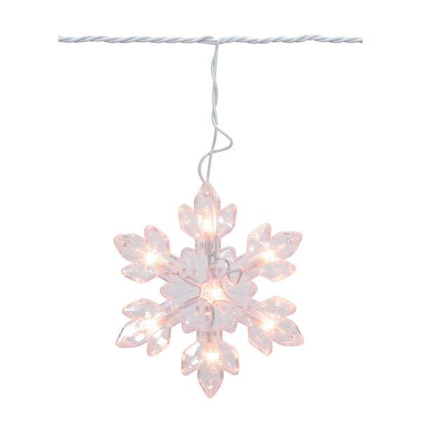 Snowflake Bulbs Cord 5 Light String Lights by The Holiday Aisle