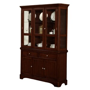 Harpster Lighted China Cabinet by Alcott Hill