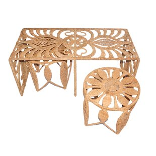 Rope Charlotte 3 Piece Nesting Table by Jo-Liza International Corp.