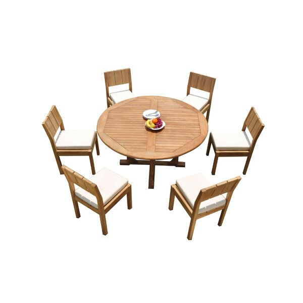 Germania 7 Piece Teak Dining Set by Rosecliff Heights