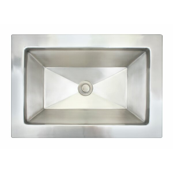Facet Metal Rectangular Dual Mount Bathroom Sink by Linkasink