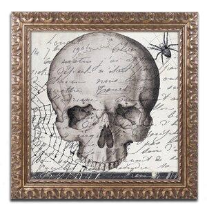 'Halloween Skull' by Color Bakery Framed Graphic Art by Trademark Fine Art