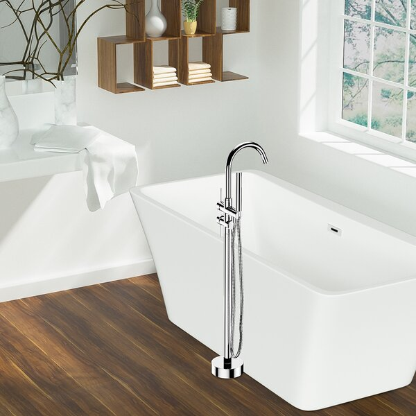 Double Handle Floor Mounted Clawfood Tub Faucet with Handheld Shower Head by Maincraft Maincraft