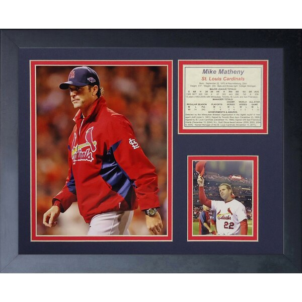 Mike Matheny Framed Photographic Print by Legends Never Die