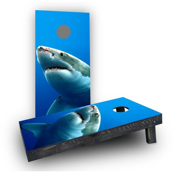 Shark Cornhole Boards (Set of 2) by Custom Cornhole Boards