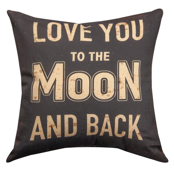 Love You to the Moon and Back Cotton Throw Pillow by Manual Woodworkers & Weavers