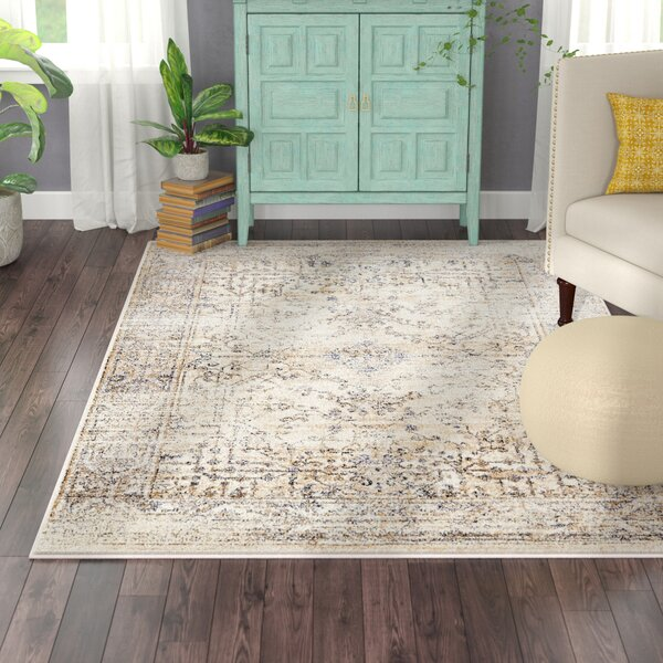 Berthoud Cream Area Rug by Bungalow Rose