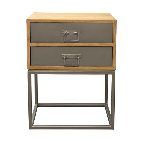 Hinkel 2 Drawer Nightstand by Williston Forge
