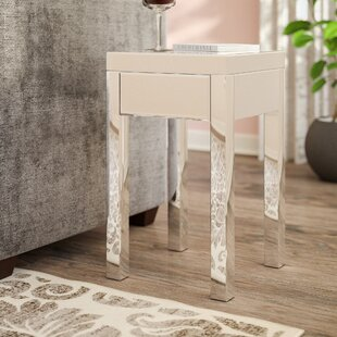 Keels Mirrored End Table With Storage Willa Arlo Interiors