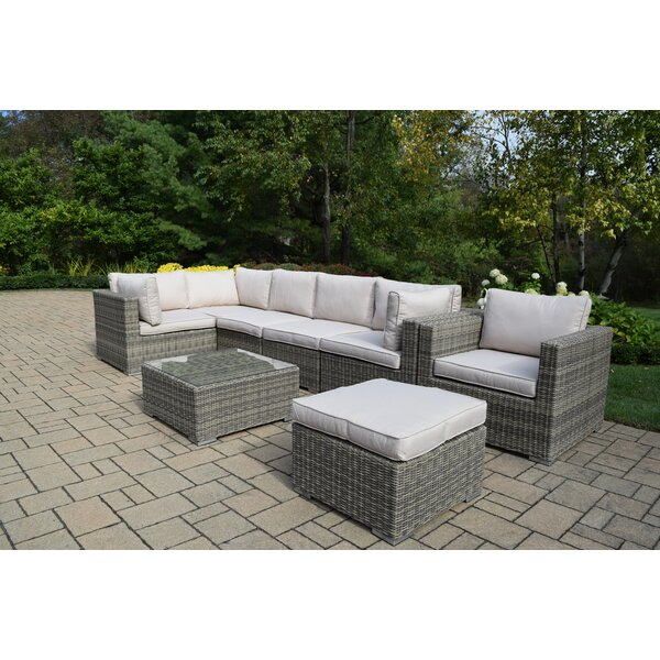 Devan 8 Piece Sectional Set with Cushions by Rosecliff Heights