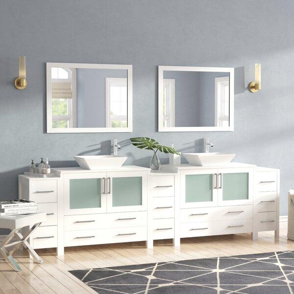 Karson 36 Double Bathroom Vanity Set with Mirror by Wade Logan